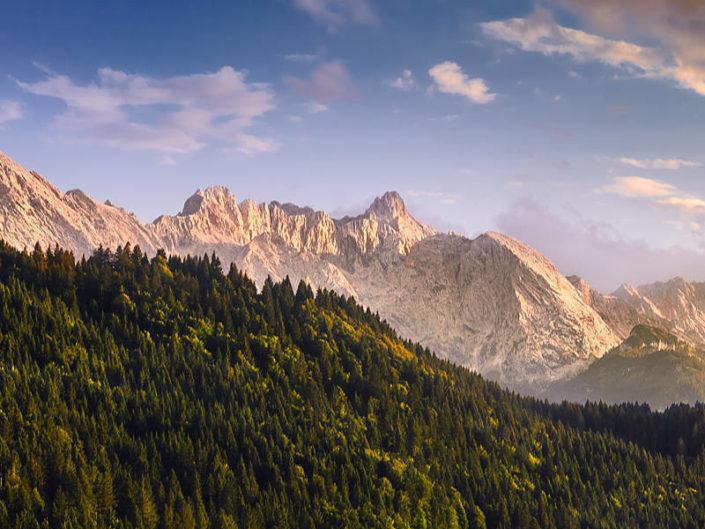 Zugspitze im Abendlicht