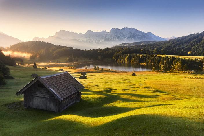 Traumhafte Berglandschaft am Geroldsee
