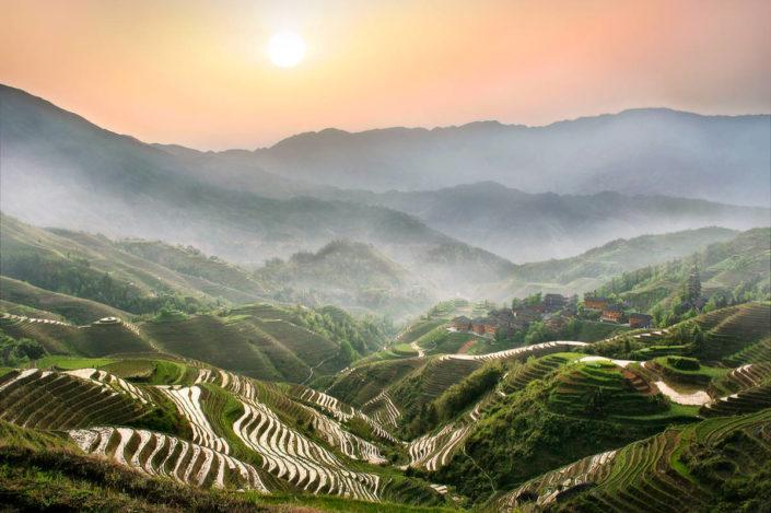 Über den Reisterrassen von Longsheng