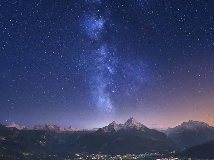 Sternenhimmel über den Alpen