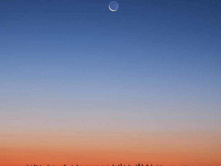 Einsamer Mond